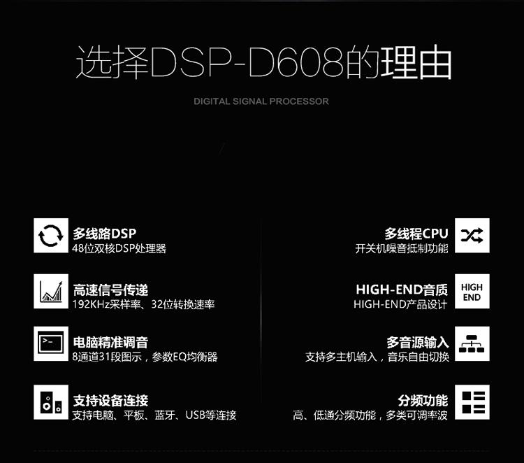 霸克DSP-D608