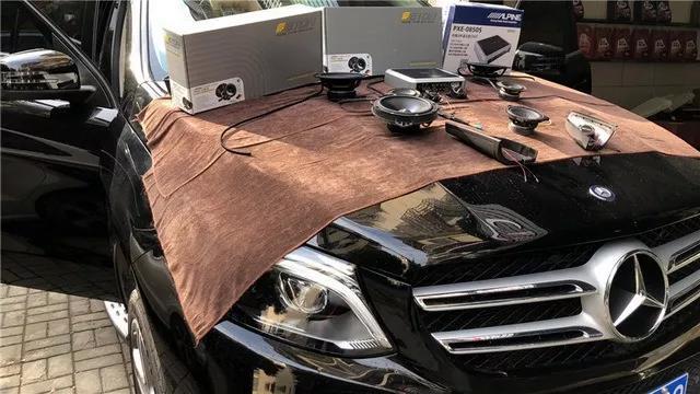 余音袅袅-车改坊武汉店奔驰GLC汽车音响升级德国ETON伊顿POW三分频