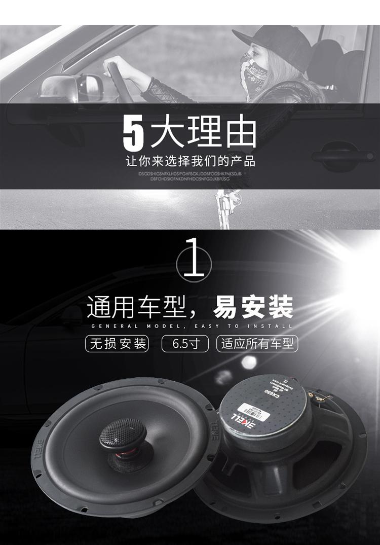 霸克CX650同轴喇叭