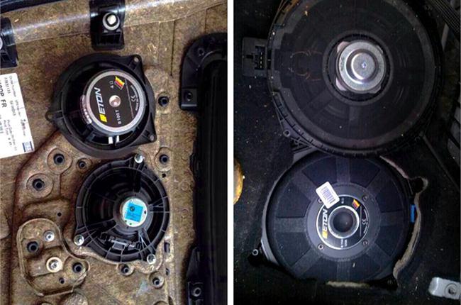 向着更好迈步 义乌车改坊宝马525改装ETON和ARC音响